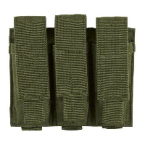 (VooDoo Tactical 20-7976004000 Pistol Mag Pouch, Olive Drab, Triple)
