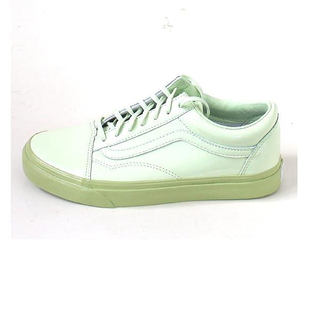 b85c79c96c14 Vans Women s Lace-up Low-top Sneakers Gr n (Seafoam Green Margarita) 8.5 UK   Buy Online at Low Prices in India - Amazon.in