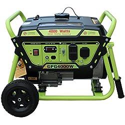 Green-Power America GPG4000W Pro Series Recoil Start Generator, 4000W