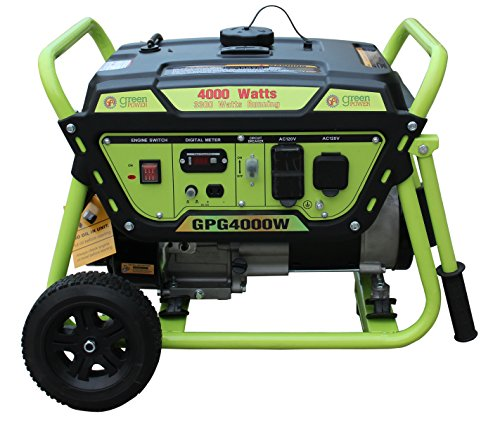 Pro Series Generator (Green-Power America GPG4000W Pro Series Recoil Start Generator, 4000W)