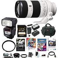 Sony FE 70-200mm Interchangeable Lens w/ HVLF43M Digital Camera Flash Bundle