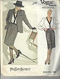 Vogue Paris Original Pattern, Yves Saint Laurent, #1321