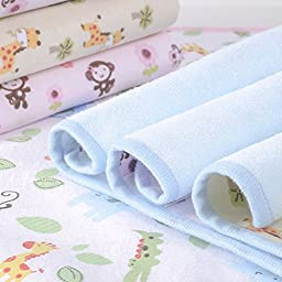 Elf Star Cotton Bamboo Fiber Breathable Waterproof Underpads Mattress Pad Sheet Protector for Children or Adults, Monkey Print, 27\