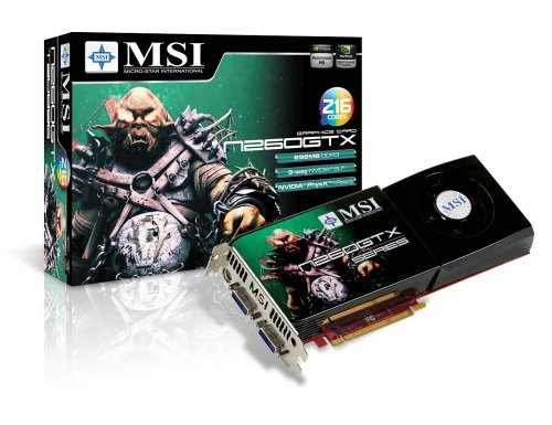 MSI N260GTX-T2D896-OCv3 GeForce GTX 260 896 MB DDR3 PCI Express 2.0 x16 HDCP Ready SLI Supported Video Card - Retail