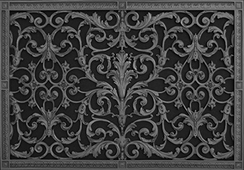Decorative Grille, Vent Cover or Return Register, Louis XIV, French style made of resin to fit a 20