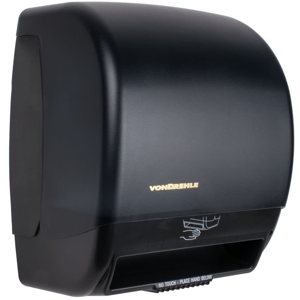 2245 Black Hands Free Paper Roll Towel Dispenser with Motion Sensor By TableTop King