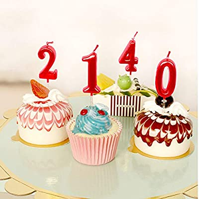 NEWCANDLE Blue Birthday Candles 1 Candle 1st One Year Cake Bady Roman Numberal Cool Number Candle No 10 11 12 13 14 15 16 17 18 19