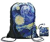 Drawstring Backpack Sports Gym Bag (Starry Night)