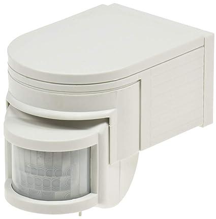 Chilitec - Sensor de movimiento (180°, IP44), color blanco