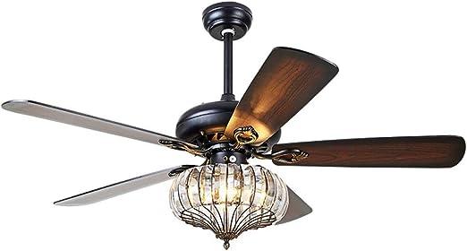 Luz for ventilador de techo, cristal creativo Ventilador for techo ...