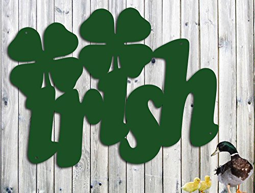 Irish Metal Wall Art With Four Leaf Clovers - Metal Wall Art