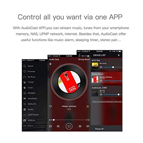 Airplay Receiver, RIVERSONG Wireless Music Receiver Wifi Music Receiver DLNA Airplay Adapter Wifi Audio Receiver, Wireless Audio and Music to Speaker System Multi Room (Airplay 2 NOT SUPPORTED) by RIVERSONG (Image #3)