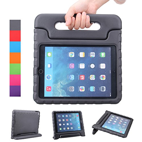 NEWSTYLE Apple iPad Air 2 Case Shockproof Case Light Weight Kids Case Super Protection Cover Handle Stand Case for Kids Children for Apple iPad Air 2 (2014 Released) - Black ()
