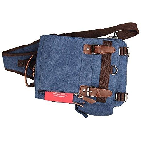 Jxth Travel Bag Shoulder Chest Hiking Cross Backpack Outdoor Lightweight Canvas Gym Sport Body Casual Messenger Blue Daypack Sling rqw7CSr