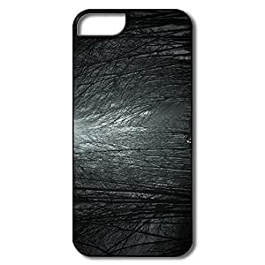 IPhone 5 5S Cases, Haunted Forest Case For IPhone 5/5S - White/black Hard Plastic