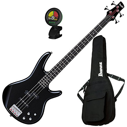 Ibanez GSR200BK 4 String Electric Bass Guitar (Black) w/ Gig Bag and Tuner by Ibanez