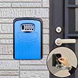 Key Lock Box Large Password Lock Box Security Anti-Theft Box Wall Cabinet Safety Box (Orange),StarLightd (Color : Blue)