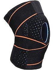 WHCREAT Patella Meniskus Knieorthese Sport Kniebandage Atmungsaktive Knieschützer für Lauf Sport, Schmerzlinderung von Kniescheibe und Gelenk, Rehabilitation nach Verletzunge (1 Stück)