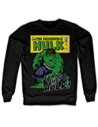 The Hulk Sweatshirt I Am The Hulk new Official Marvel Mens Black