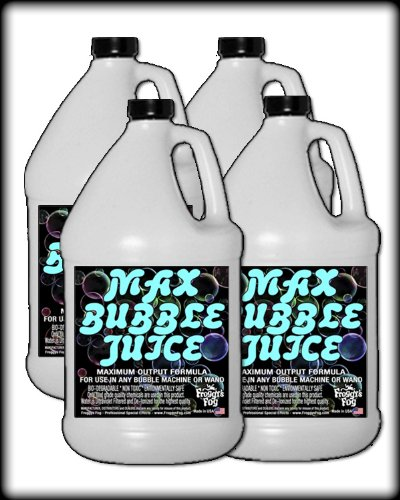 Froggys Fog - 4 Gal - MAX Bubble Juice Fluid - 10x the Bubbles from Standard Machines