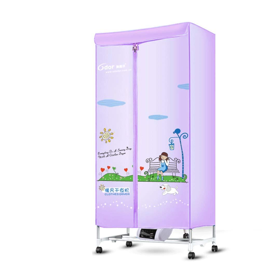 Secadora secadora de doble capa de gran capacidad silenciosa secadora secadora de ropa de secado rá pido hogar (Color : Azul) ZhangZongBinHome