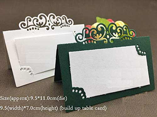 Table Setting Place Cards Cutting Dies-Photo Album Name Card Holder Cutting Dies-Metal Cutting Dies-Metal Cutting Dies Stencils DIY Scrapbooking-Die Cuts for Card Making-Metal Cutting Dies Stencils