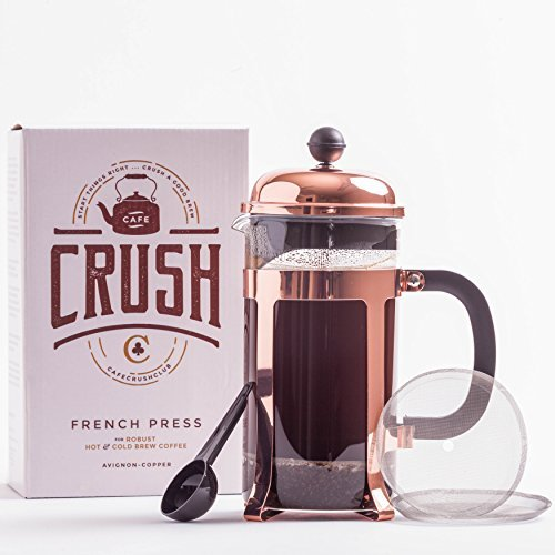 Amazon.com: French Press Coffee Maker Thick Borosilicate Glass Bonuses; 34 Ounce | 1 Liter (Copper): Kitchen & Dining