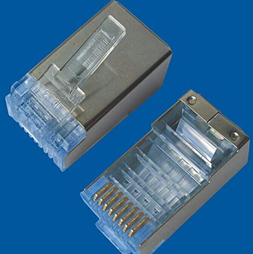 FidgetFidget 50pcs 1 Lot RJ45 Cat6 Cat6a Shield Shielding Network Connectors Plug Terminals