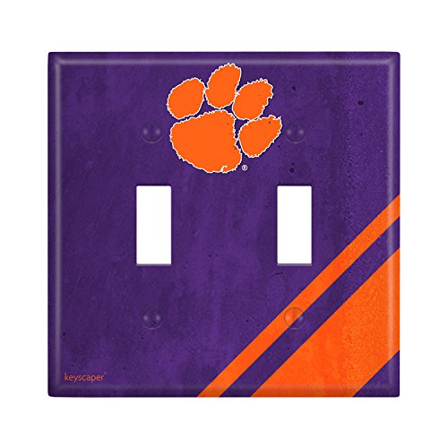 Clemson Tigers Double Toggle Light Switch Cover NCAA