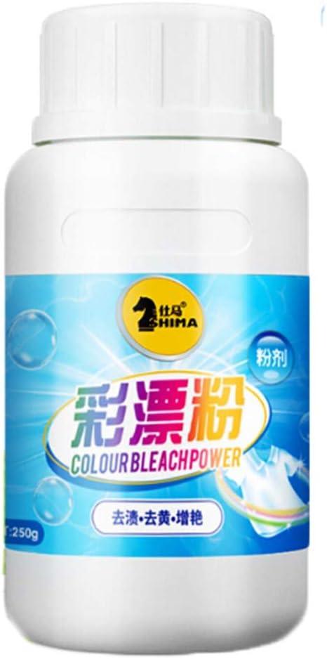 WARMWORD detergente de Ropa para lavador, Polvo Formato Profesional lavandería a Prueba Color quitamanchas blanqueamiento Fuerte Clean líquido Lavadora, Peso 250g: Amazon.es: Hogar
