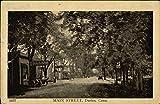 Main Street Darien, Connecticut Original Vintage Postcard