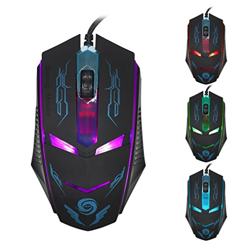 Gotd 3200 DPI LED USB Wired Gaming Mouse colorful Mice For PC Laptop