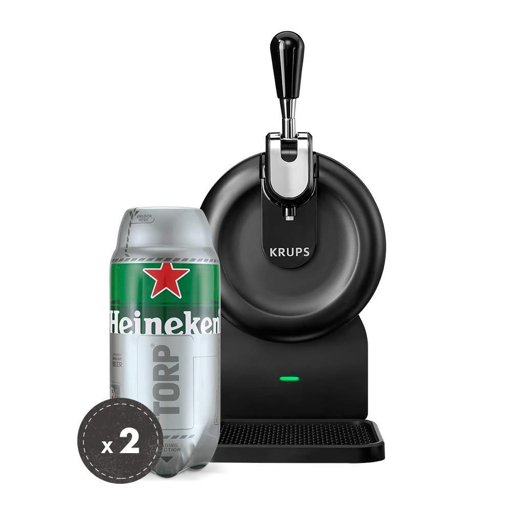 Heineken THE SUB Set Spillatura Domestica | THE SUB Spillatore Birra da Casa, Edizione Compact + 2 x TORP Heineken Fustini di Birra da 2 Litri