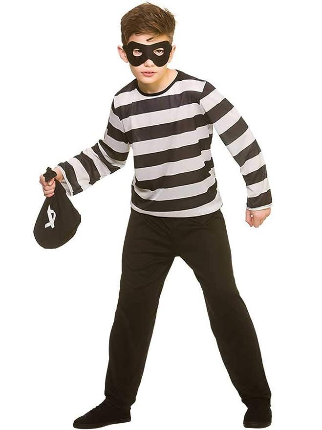 Wicked Costumes Disfraz de Robber Sneaky de tamaño Infantil XL (11 ...