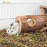 Niteangel Natural Wooden Hamster Mouse Tunnel Tube