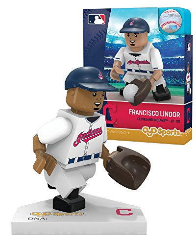 Cleveland Indians Uniforms (MLB Milwaukee Brewers Cleveland Indians Francisco Lindor Limited Edition Minifigure, Small, White)