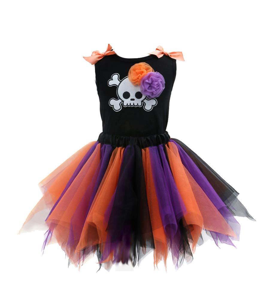 Sronjn ragazze vestono Girls Halloween stampate senza maniche Vest gonna colore set Casual