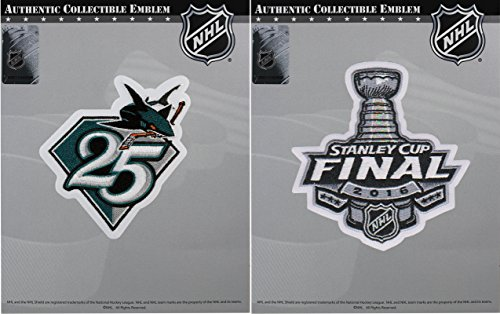 NHL San Jose Sharks 25th Anniversary Season & 2016 Stanley Cup Final Patch Combo ()