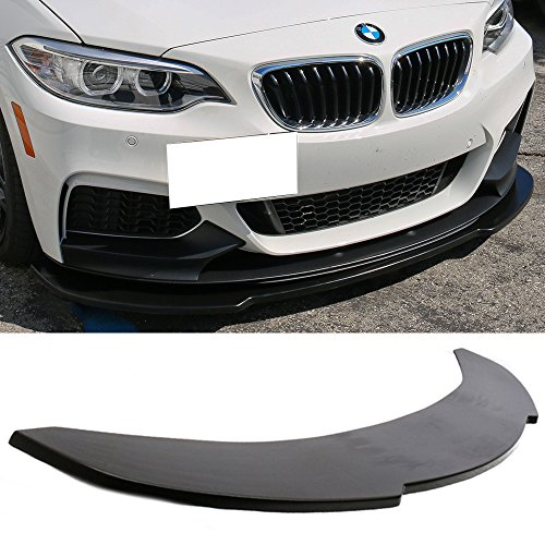 Front Bumper Lip Fits 2006-2013 BMW E90 E92 E93 | Unpainted Black PU Front Lip Finisher Under Chin Spoiler Add On by IKON MOTORSPORTS | 2007 2008 2009 2010 2011 2012