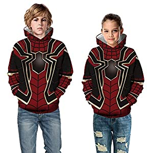 Teen Girl's Boys' Fleece Sweatshirts 3D Printed Hoodies with Pocket Pullover Tops 4-13Y