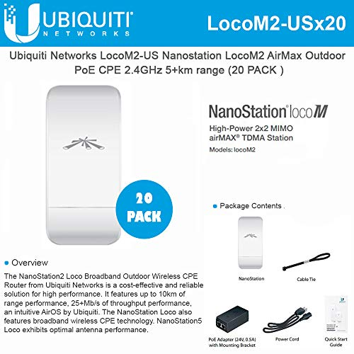 Used, NanoStation Loco M2 Indoor/Outdoor airMAX CPE 2.4GHz for sale  Delivered anywhere in USA