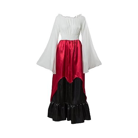 ce798f4f8d Amazon.com : Women's Renaissance Medieval Long Dress Vintage ...
