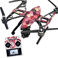 MightySkins Protective Vinyl Skin Decal for Yuneec Q500 & Q500+ Quadcopter Drone wrap cover sticker skins Pink Scales