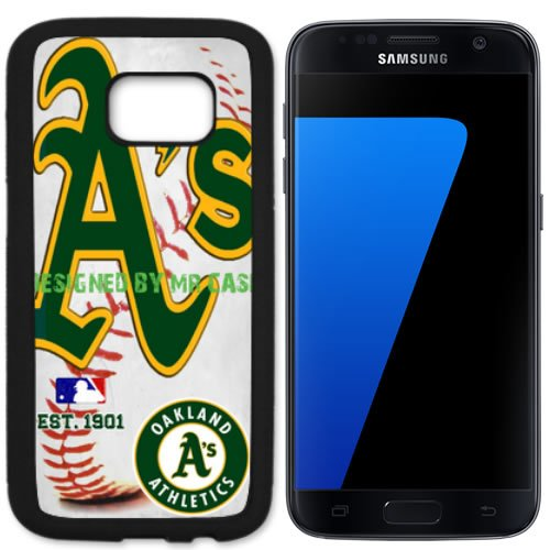 Athletics Oakland Baseball New Black Samsung Galaxy S7 Case By Mr Case - Oakland Athletics Design
