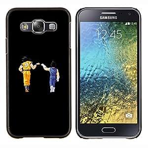 bola de Dragón- Metal de aluminio y de plástico duro Caja del teléfono - Negro - Samsung Galaxy E5 / SM-E500