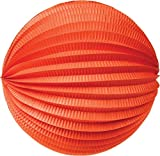 Luna Bazaar Accordion Paper Lantern (12-Inch, Tangerine Orange) - Chinese/Japanese Hanging Decorations - For Home Decor, Parties, and Weddings
