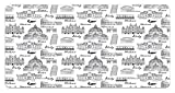 zaeshe3536658 City License Plate, Monochrome Sketch Style Famous Places from Italy Rome Milano European Architecture, High Gloss Aluminum Novelty Plate, 6 X 12 Inches, Black White