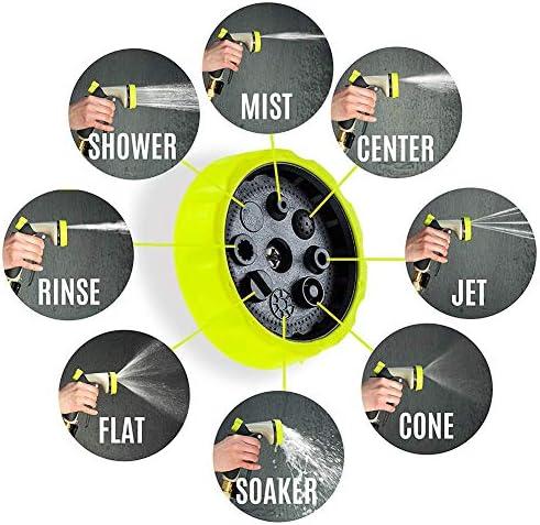 TANCEQI Hose Garden Pipe Expandable 50FT, 3 Times Expanding Flexible Magic Lightweight Watering Hose Pipe with 8 Function Spray Gun for Car & Pet Washing/Watering Lawn Gardening