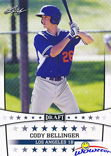 (Cody Bellinger 2017 Leaf Draft #9 ROOKIE Card in MINT Condition! Shipped in Ultra Pro Toploader to Protect it! Awesome Rookie Card of Los Angeles Dodgers Home Run Slugger! WOWZZER!)
