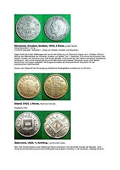 Kalenderblatt zum Jahr 1925: Ausgewähltes zur Aufspaltung Österreichs nach dem Ersten Weltkrieg (Münzen des Jahres 1925 von Island, dem SHS-Staat und Österreich) (German Edition)